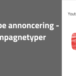 Youtube annonceirng - kampagnetyper