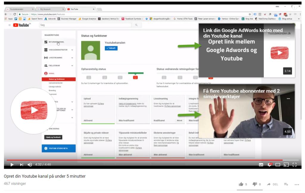 YouTube afsluttende skærmbillede