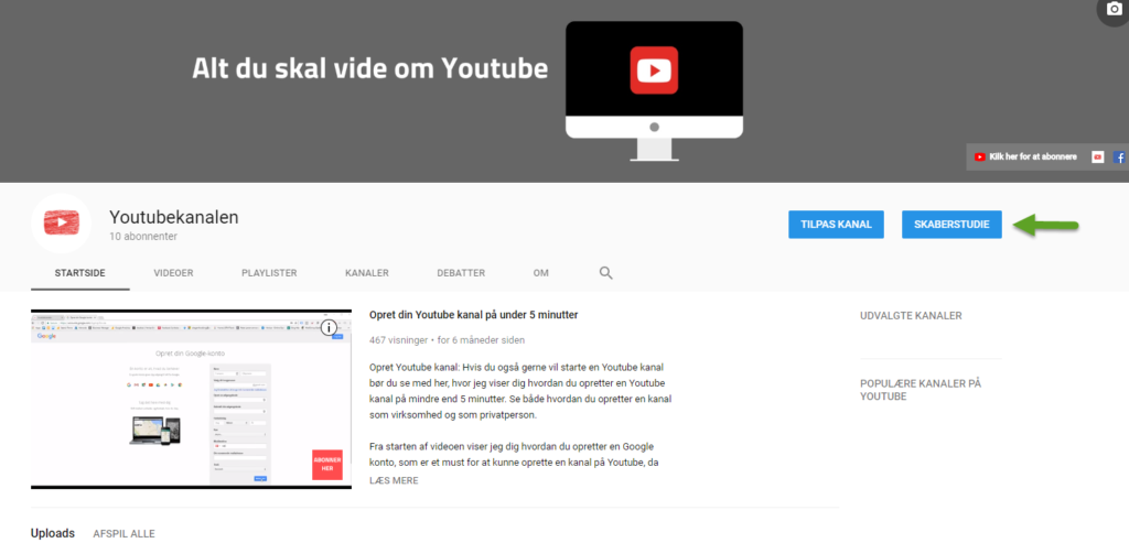 YouTube Skaberstudie